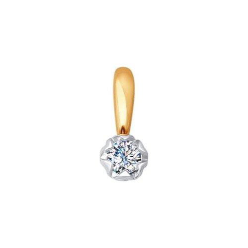 Подвеска из золота с бриллиантом (1030479) - фото