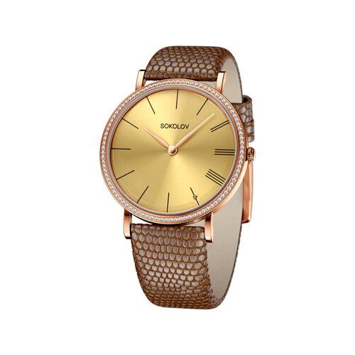 Женские золотые часы (210.01.00.100.03.03.2) - фото