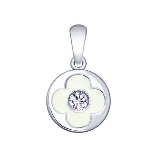 Подвеска SOKOLOV из серебра с эмалью и фианитом подвеска на браслет из серебра с фианитом