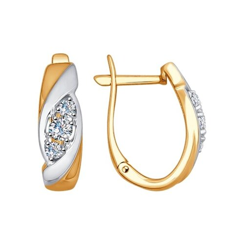 Серьги из золота с бриллиантами (1021064) - фото