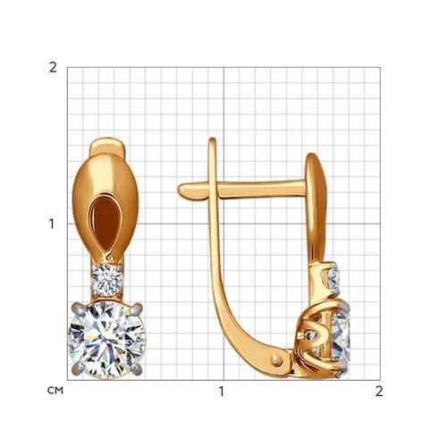 Серьги из золота со Swarovski Zirconia
