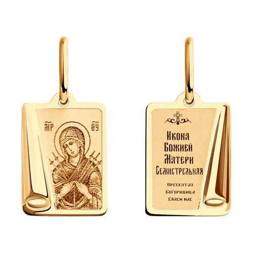 Иконка «Икона Божьей Матери, Семистрельная» SOKOLOV фото