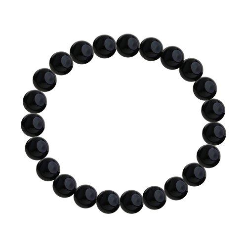 Браслет из не металл с чёрными агатами (8510500128) - фото