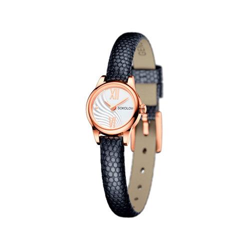 Женские золотые часы (211.01.00.000.04.01.3) - фото