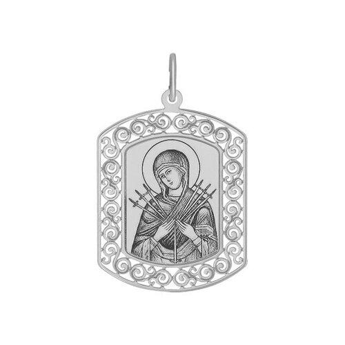 Иконка из серебра с лазерной обработкой (94100208) - фото