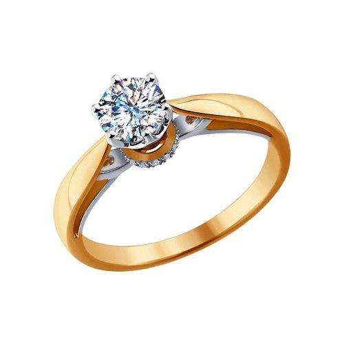 Помолвочное кольцо SOKOLOV из комбинированного золота с бриллиантами