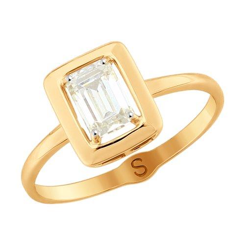 Кольцо из золота со Swarovski Zirconia (81010394) - фото