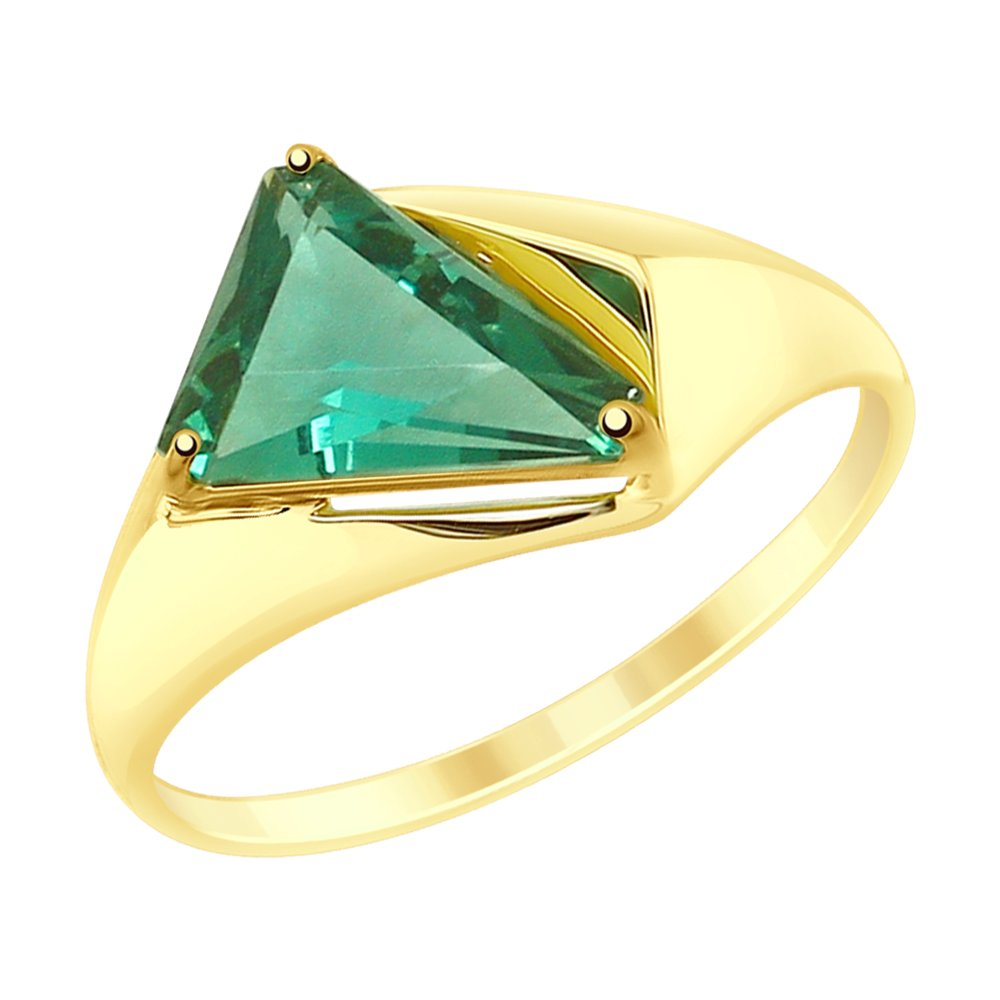 Кольцо SOKOLOV из желтого золота с кварцем