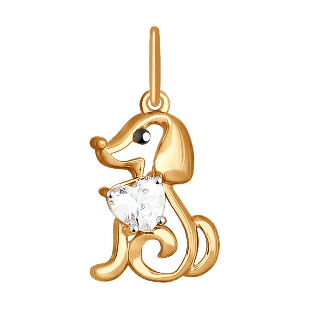 Подвеска «Собачка» SOKOLOV из золота недорого