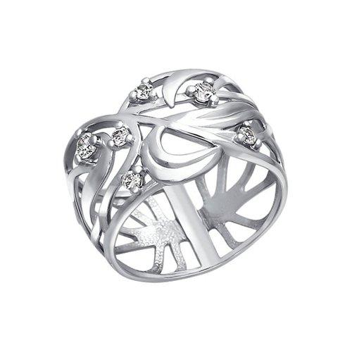 Ажурное серебряное кольцо SOKOLOV