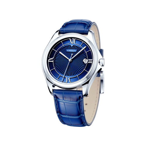 Мужские серебряные часы (135.30.00.000.03.02.3) - фото