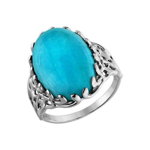 Кольцо из серебра с зелёной бирюзой