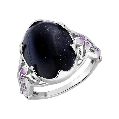 Кольцо SOKOLOV из серебра с эмалью с авантюрином