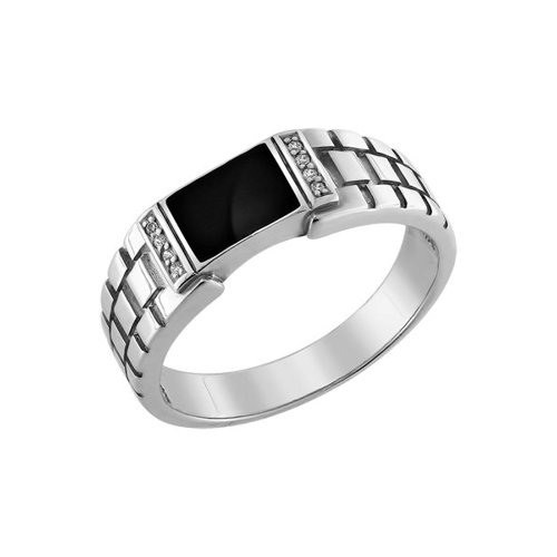 Стильное мужское кольцо SOKOLOV