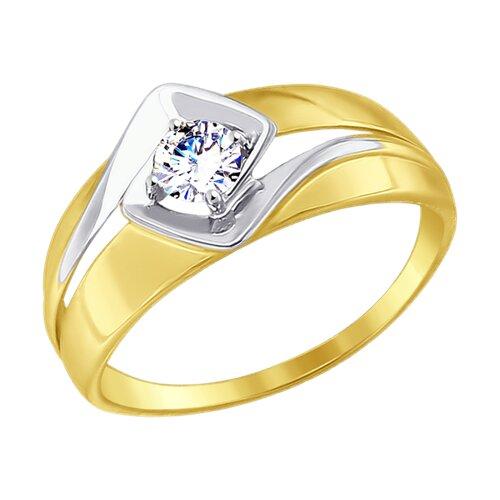 Кольцо из желтого золота (017463-2) - фото
