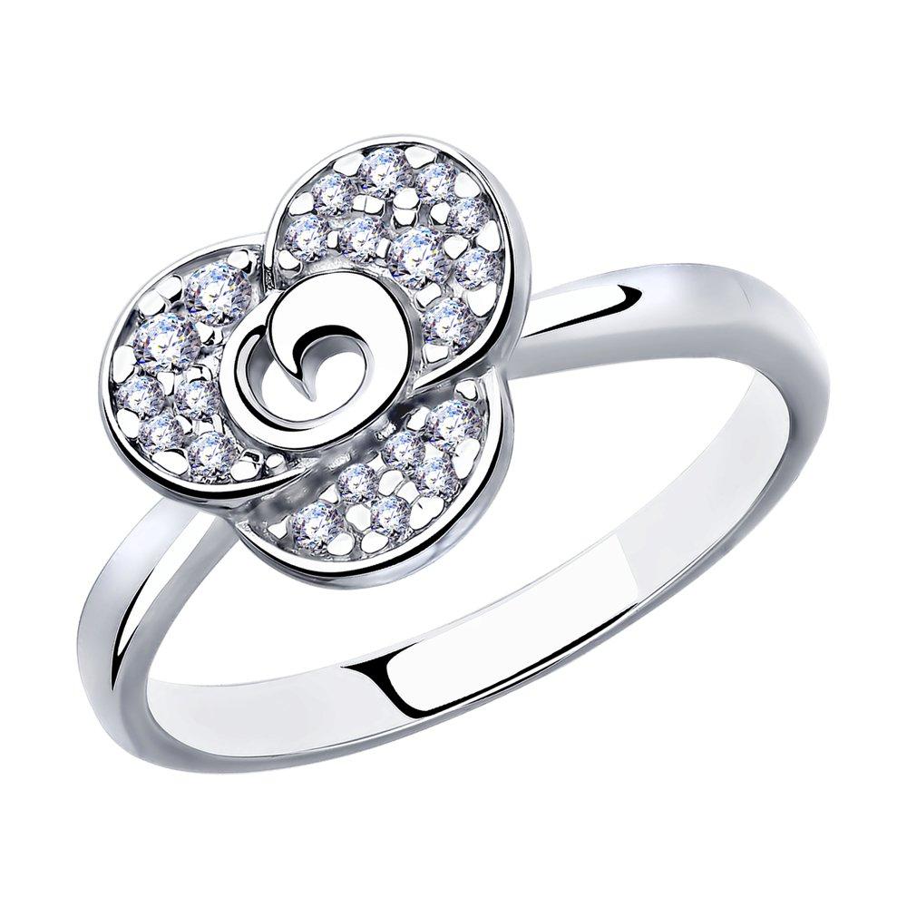 Кольцо SOKOLOV из серебра с фианитами фото