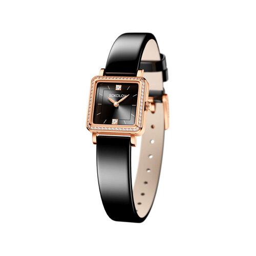 Женские золотые часы (232.01.00.001.07.04.2) - фото