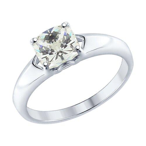 Кольцо из серебра со Swarovski Zirconia (89010062) - фото