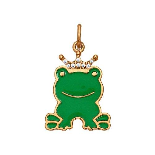 Детская подвеска «Лягушка» SOKOLOV подвеска декоративная green apple grhp4 08 лягушка