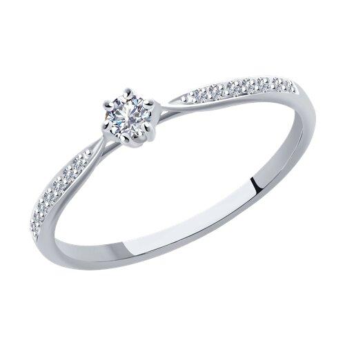 Кольцо из белого золота с бриллиантами 1012095 sokolov фото