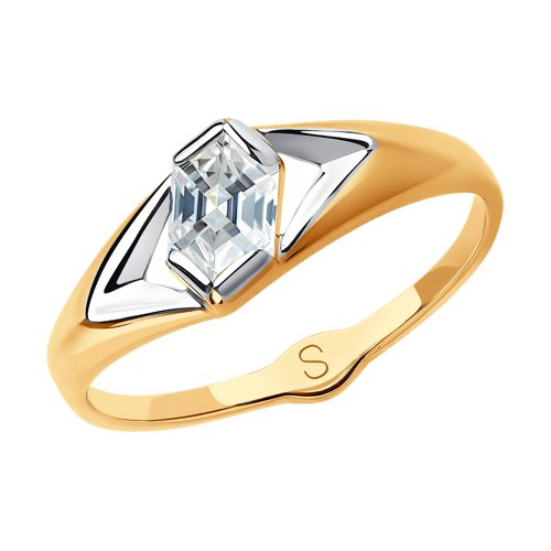 Кольцо из золота со Swarovski Zirconia (81010439) - фото