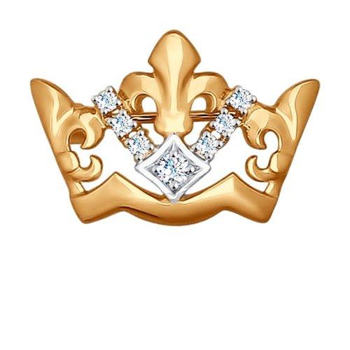 Золотое колье c фианитами «Love» SOKOLOV золотое кольцо love sokolov