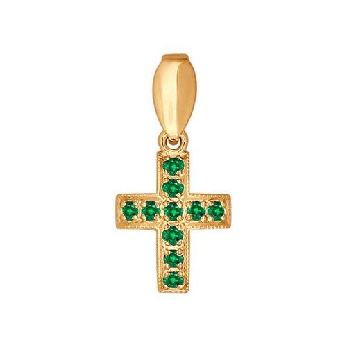 Крест из золота с изумрудами