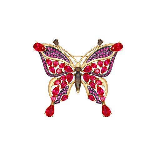 Брошь «Бабочка» из золота