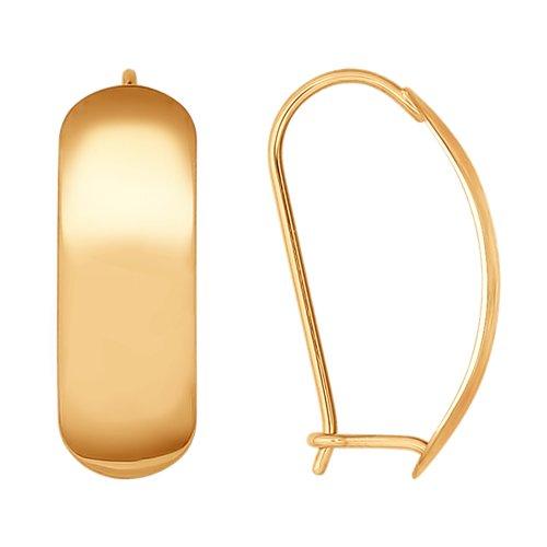 Серьги из золота (027073-9) - фото