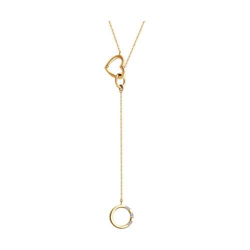 Колье из золота с бриллиантами (1070122) - фото