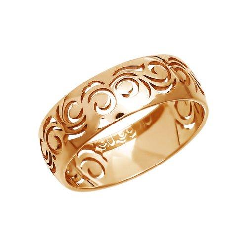 Ажурное обручальное кольцо из золота