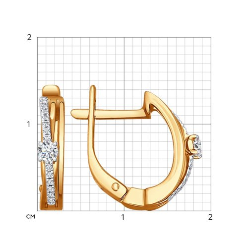 Серьги из золота с бриллиантами (1020827) - фото №2