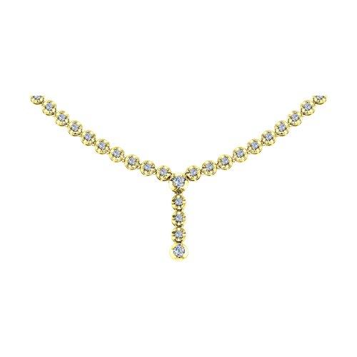 Колье из желтого золота с бриллиантами