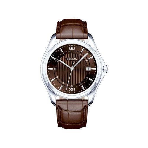 Мужские серебряные часы (135.30.00.000.08.03.3) - фото №2