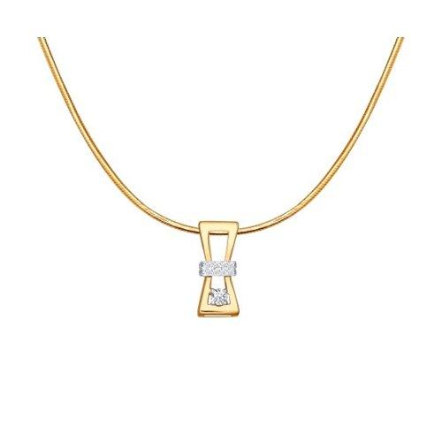 Золотое колье «Песочные часы» SOKOLOV часы часы песочные sawo 551 d