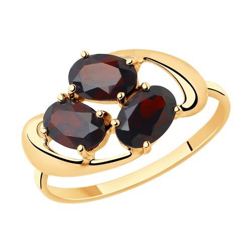 Кольцо из золота с гранатами (715378) - фото