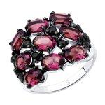 Кольцо из серебра с кристаллами Swarovski и фианитами