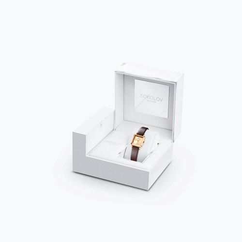 Женские золотые часы (231.01.00.000.06.07.2) - фото №4