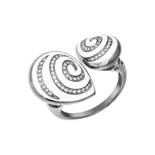 Кольцо SOKOLOV из белого золота с эмалью с бриллиантами