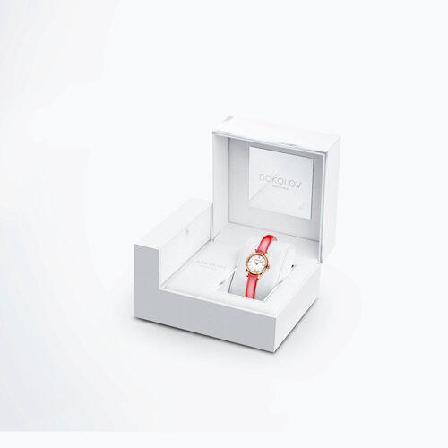 Женские золотые часы (211.01.00.000.01.07.3) - фото №4