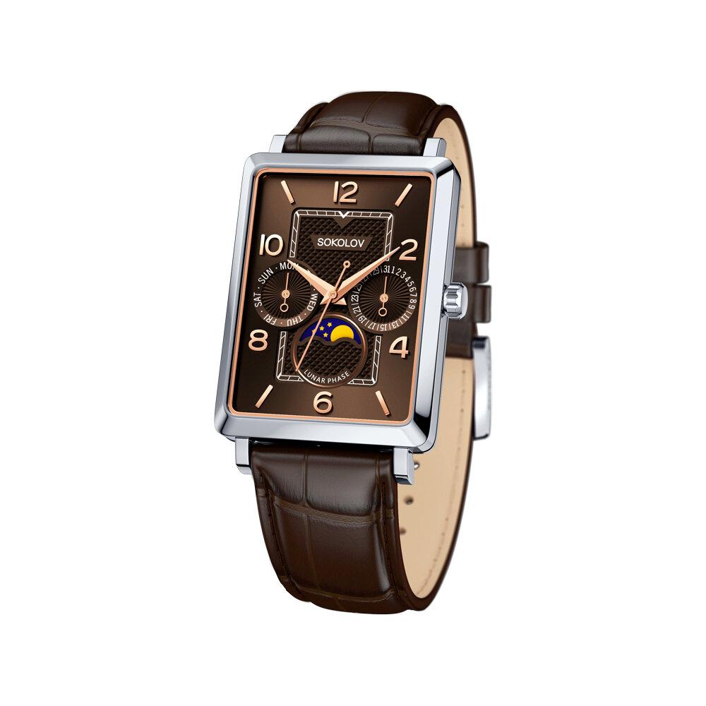 Фото - Мужские серебряные часы SOKOLOV мужские часы lars larsen 120rsan